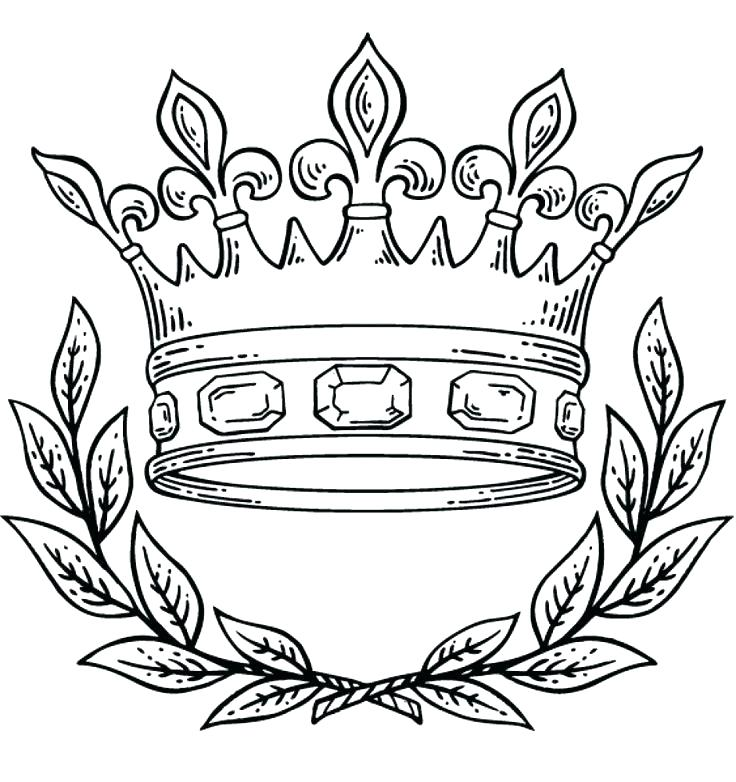 736x782 Tiara Coloring Page Crown Coloring Page Crown King Queen Coloring