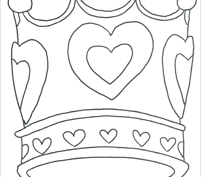 678x600 Crown Coloring Page Coloring Crowns Princess Crown Coloring Page