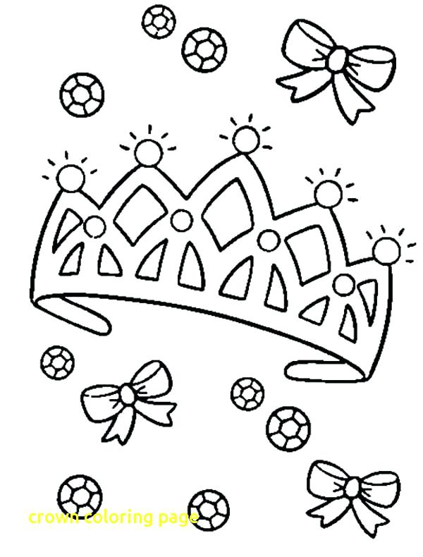 600x790 Crown Coloring Pages Crown Coloring Page With Diamond On Princess