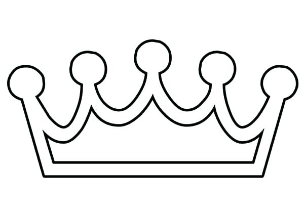 600x425 Crown Coloring Pages Hand Made Princess Crown Coloring Page Royal
