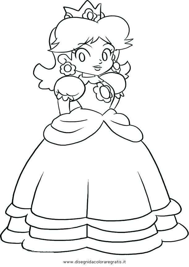 611x860 Princess Daisy Coloring Pages Bros Colouring Super Mario