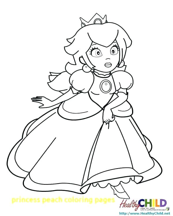 600x750 Princess Daisy Coloring Pages Coloring Page Princess Peach
