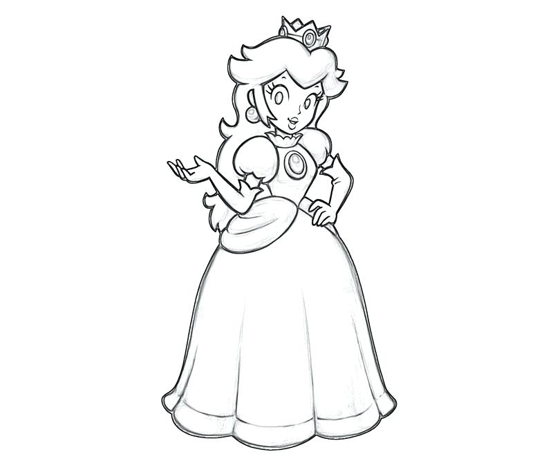 800x667 Princess Daisy Coloring Pages Princess Peach Coloring Pages Free