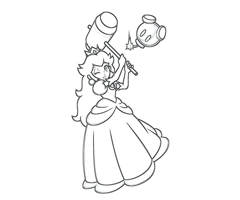 800x667 Princess Daisy Coloring Pages Princess Peach Kart Coloring Pages