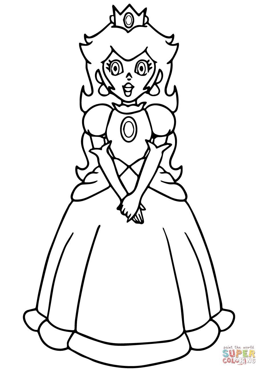 919x1300 Paper Princess Daisy Coloring Pages Download