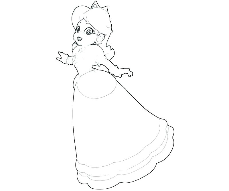 800x667 Princess Daisy Coloring Pages