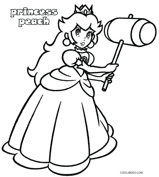 533x592 Princess Daisy Coloring Pages