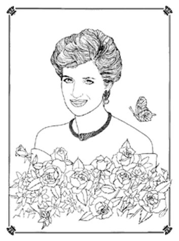 353x475 Diana The People's Princess A Royal Colouring Album Peggy Howe