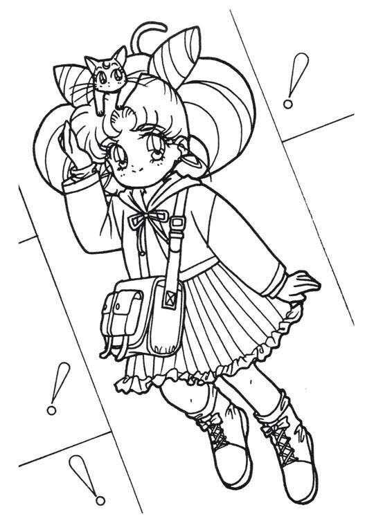 540x756 Sailor Moon Series Coloring Pages Chibiusa Sailor Moon Coloring