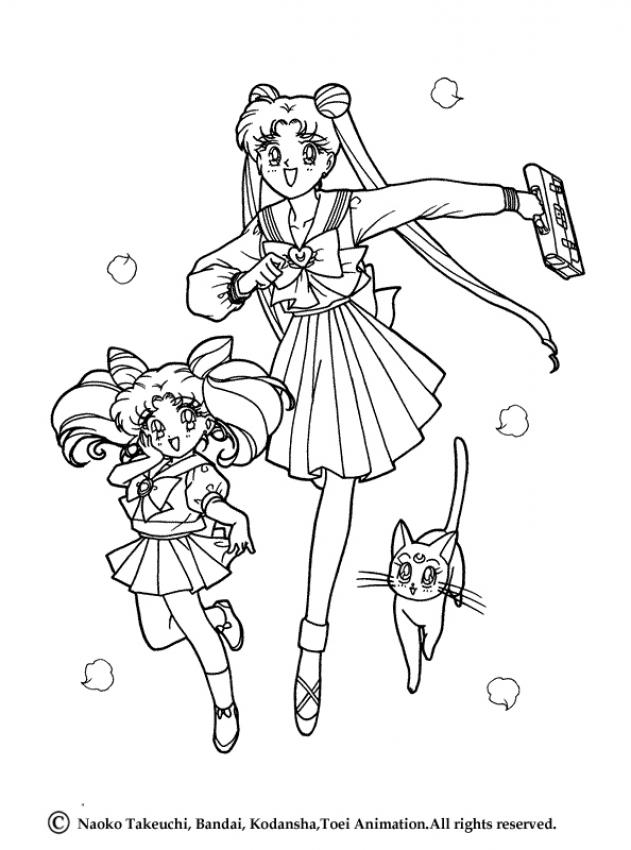 631x850 Cats Artemis And Diana Coloring Pages