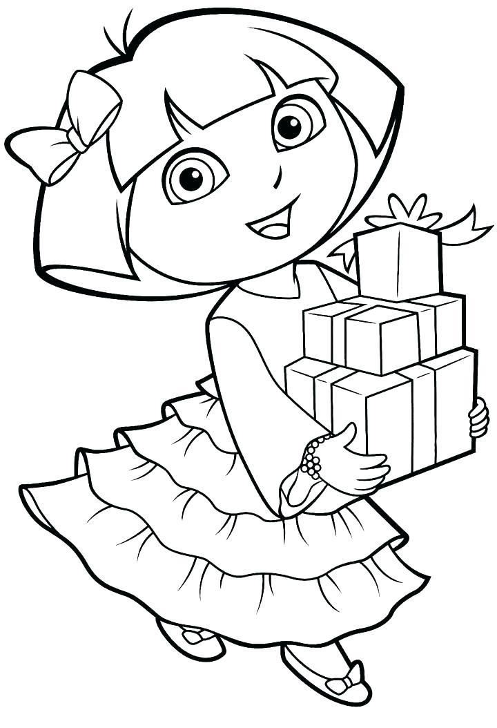 Princess Dora Coloring Pages At Getdrawings Free Download