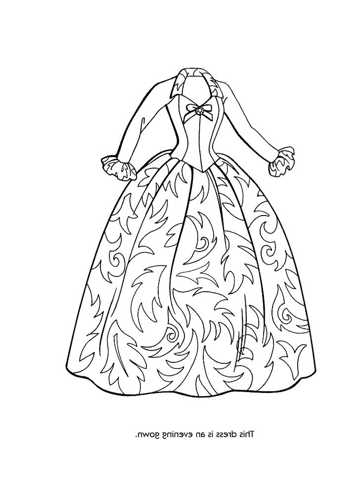 736x981 Dress Coloring Page Coloring Pages Of Fancy Dresses High Quality