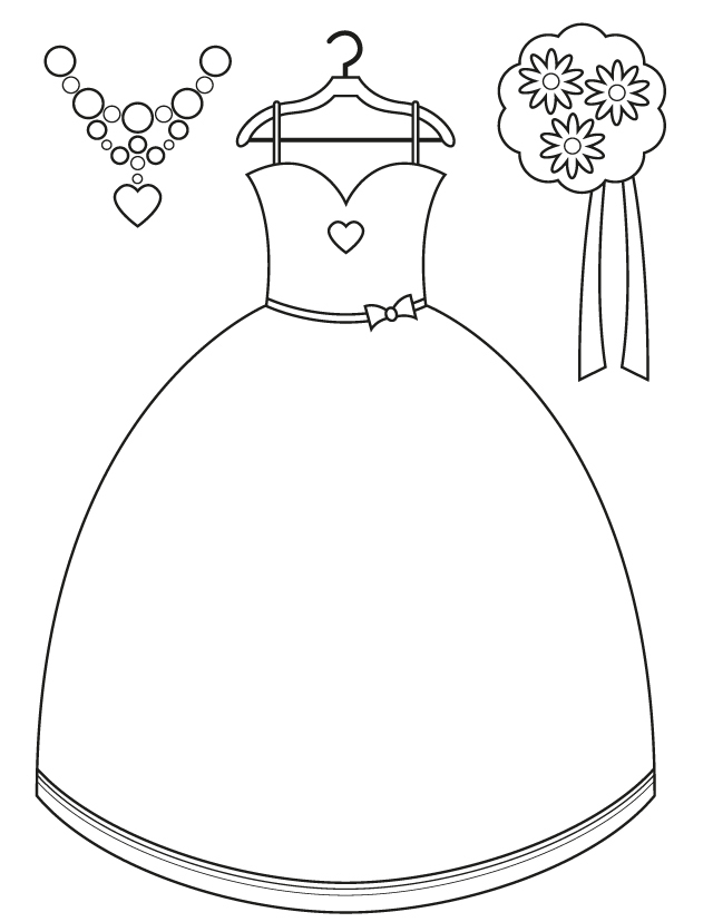 640x828 Dress Coloring Pictures Bridesmaid Dress And Accessories Free