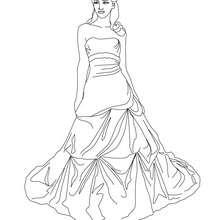 220x220 Princesses Dresses Coloring Pages