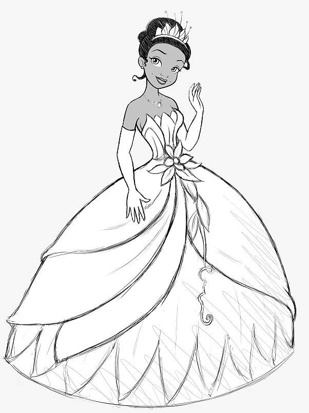 602x805 Princess And The Frog Coloring Pages