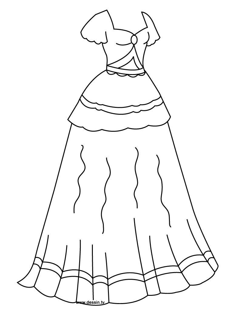 768x1024 Princess Dress Coloring Pages