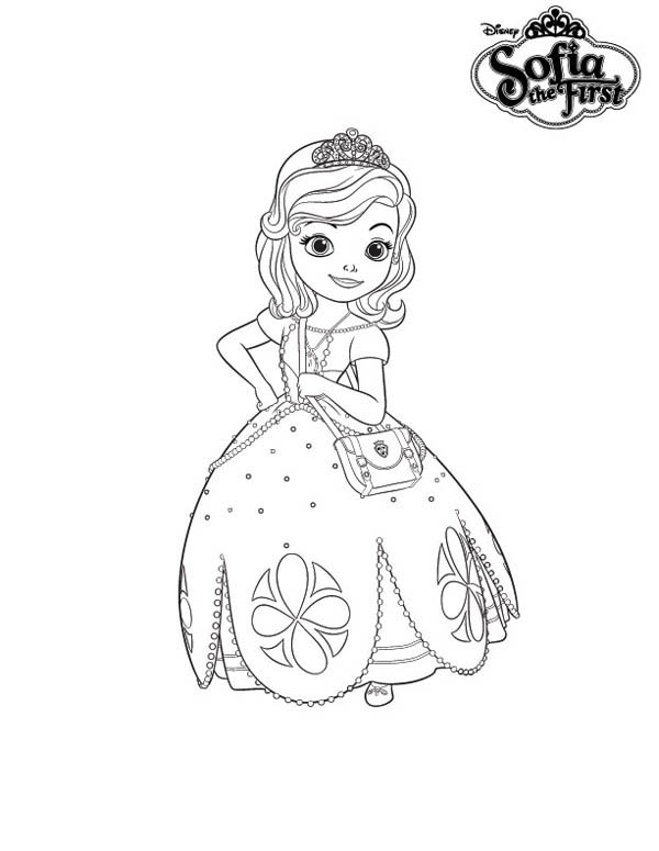 600x775 Princess Sofia The First Dress Coloring Page