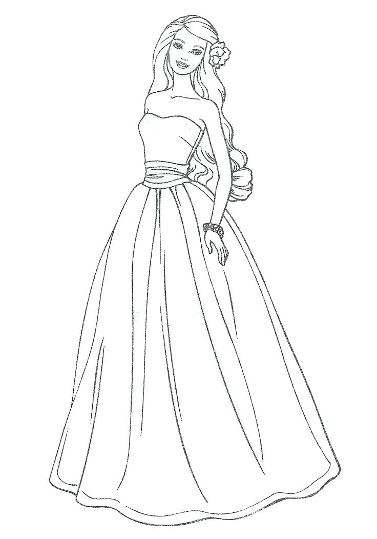 736x1051 Trend Dresses Coloring Pages Online Dress Page Up Beautiful Prom