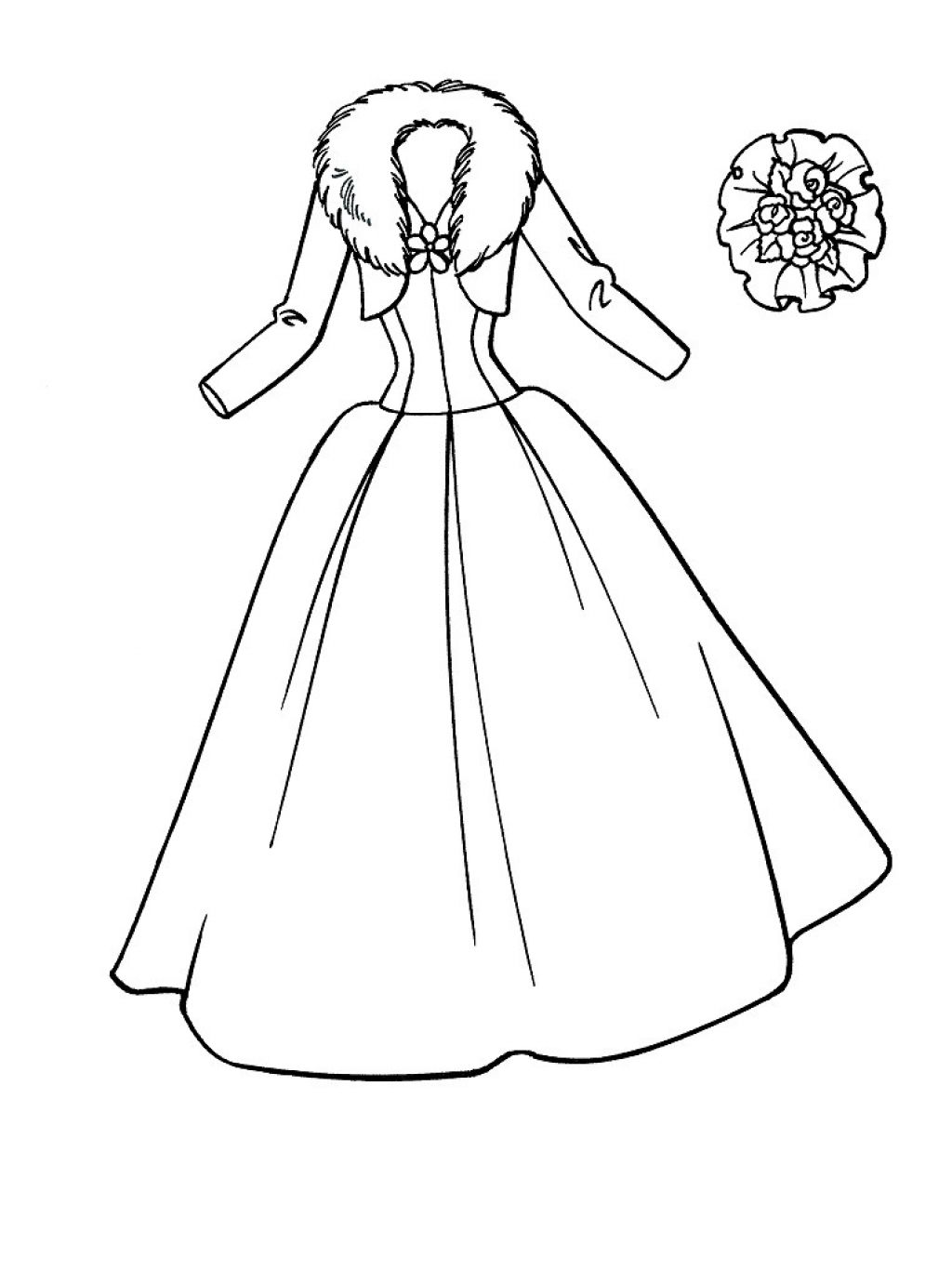 1024x1367 Printable Wedding Dress Coloring Pages For Girls
