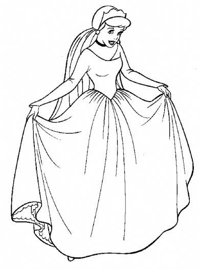 389x525 Cinderella Colouring Pages Online Coloring Pages