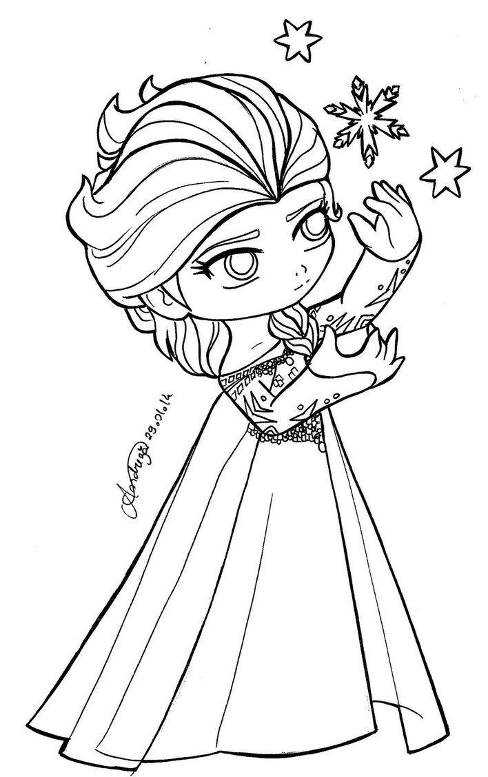 708x1128 Chibi Princesses Chibi Queen Elsa