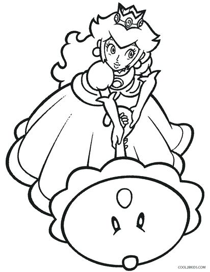 412x533 Daisy Coloring Page Printable Princess Peach Coloring Pages