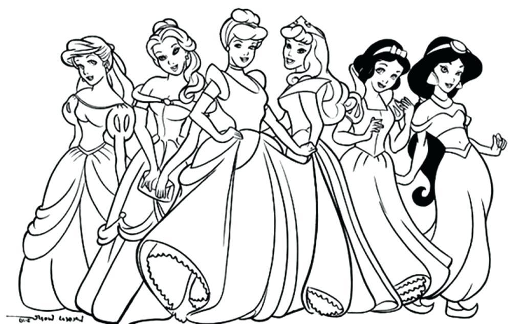 1024x633 Princess Coloring Pages Good Princess Coloring Pages Frozen