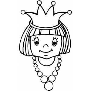 300x300 Princess Face Coloring Sheet