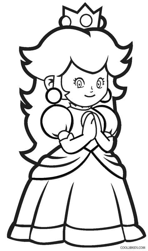474x800 Printable Princess Peach Coloring Pages For Kids