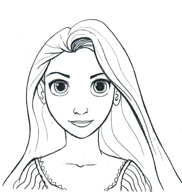 594x628 Rapunzel Face Coloring Pages Princess Coloring Pages Face Tangled