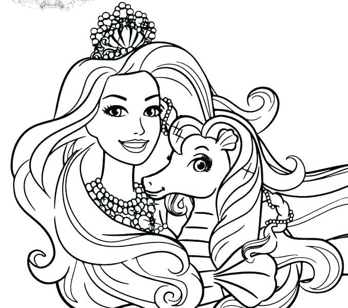 678x600 Barbie Face Coloring Pages Barbie Coloring Page Free Printable