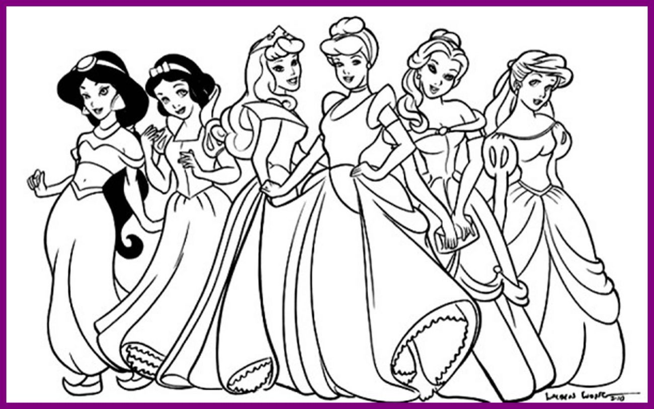 1300x813 Best Princess Coloring Pages Bookmontenegro Me For Disney Face