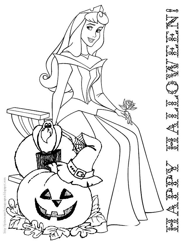 Princess Halloween Coloring Pages At Getdrawings Free Download