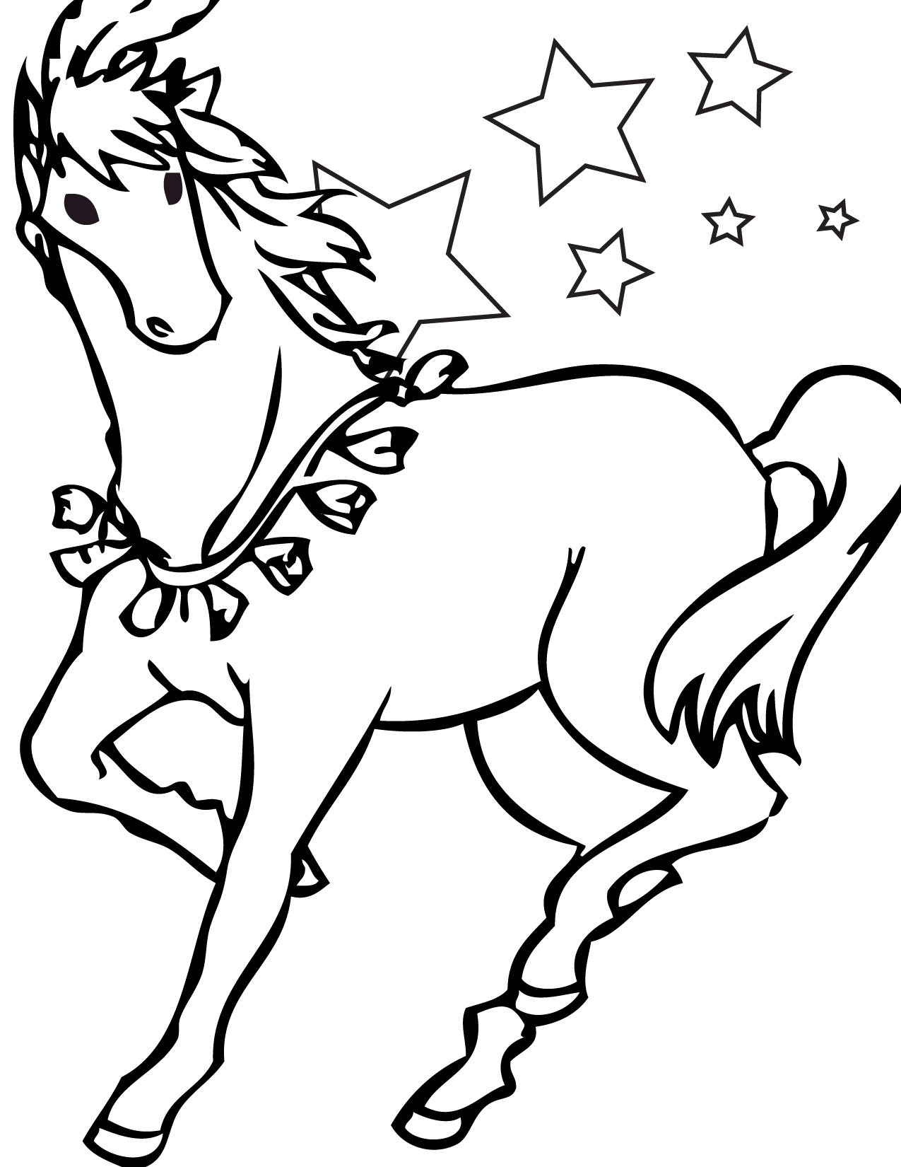 1275x1650 Free Printable Horse Coloring Pages For Kids