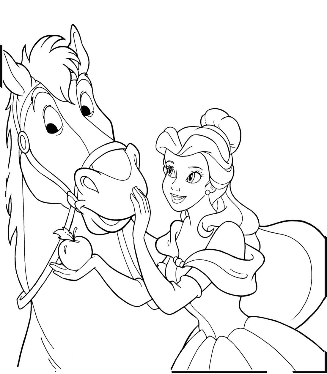 1100x1260 Princess Horse Coloring Pages In Princess And Horse Coloring Pages