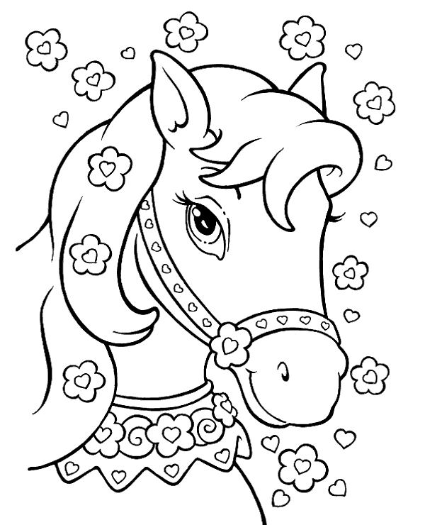 600x740 Princess Horse Coloring Pages For Girls To Print Or Download For Free