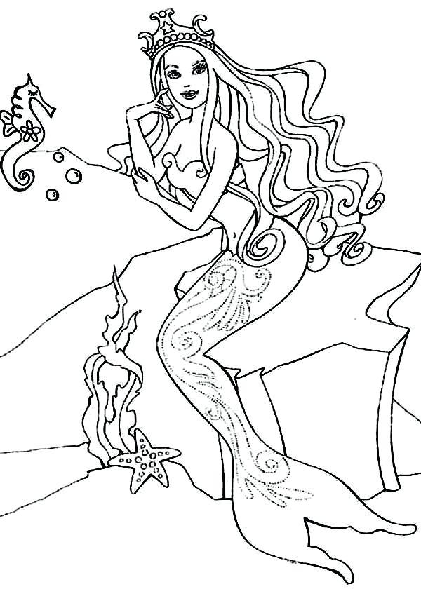 600x840 Barbie Horse Coloring Pages Barbie Princess Barbie Princess
