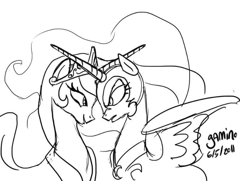 803x605 My Little Pony Nightmare Moon Coloring Pages