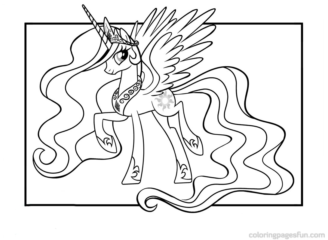 1091x800 My Little Pony Princess Celestia Coloring Pages