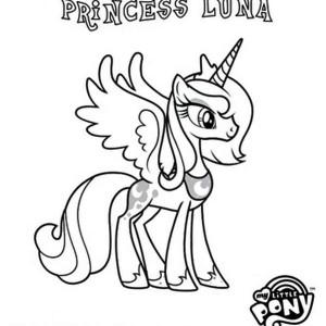 300x300 My Little Pony Princess Luna Coloring Pages