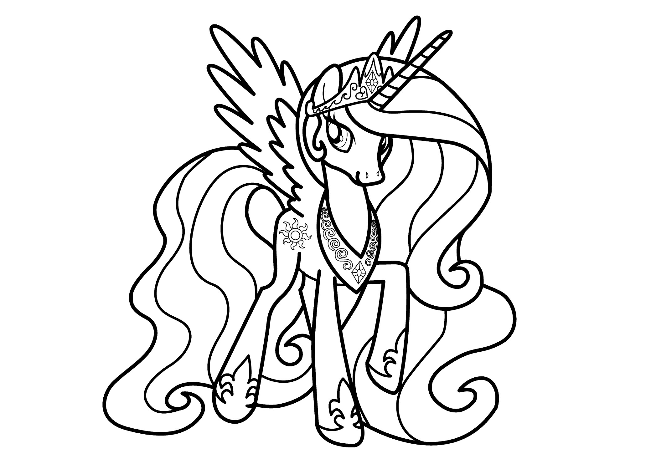 2079x1483 Best Of My Little Pony Coloring Pages Princess Luna Filly Design
