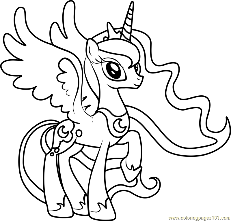 800x767 Princess Luna Coloring Page