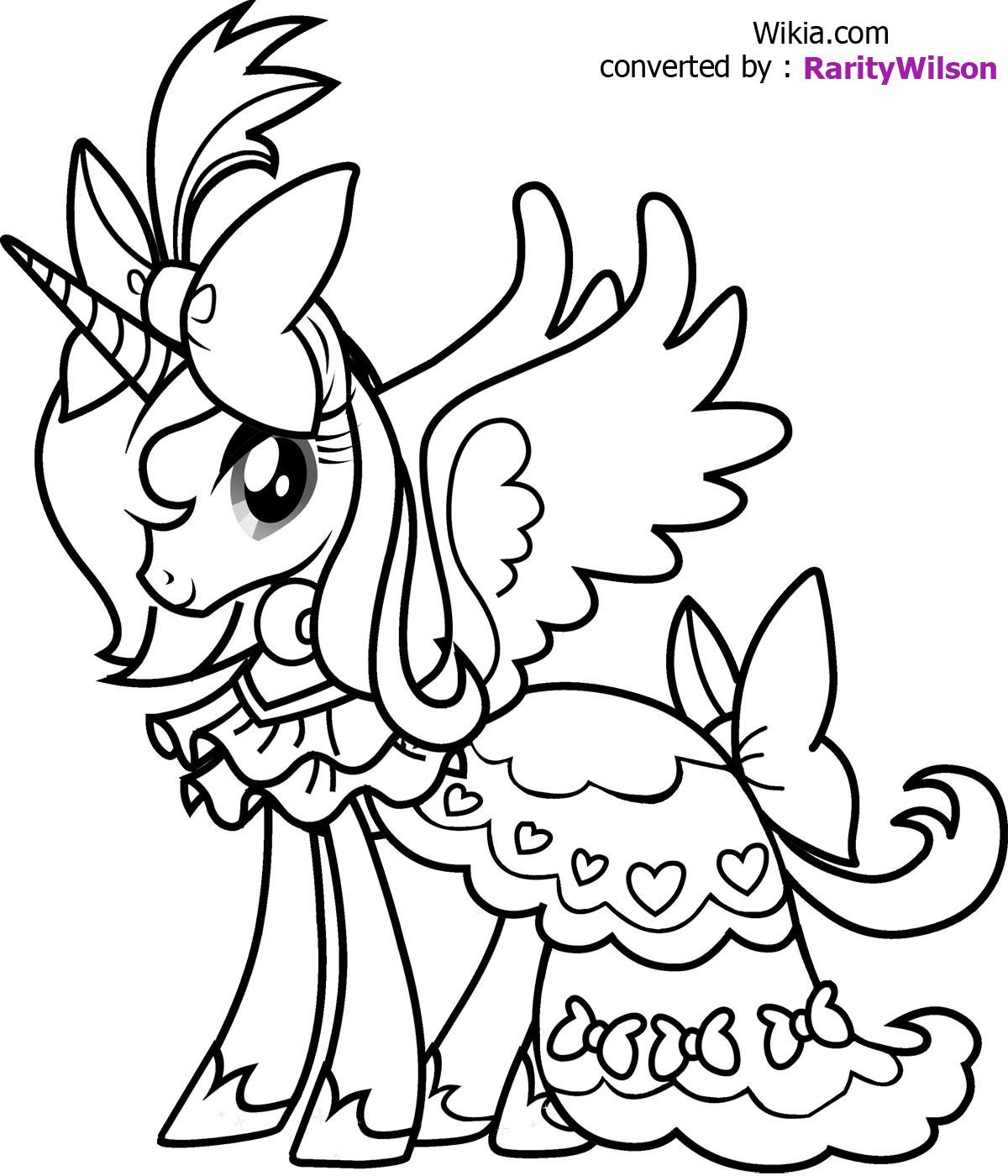 1200x1400 Princess Luna Coloring Page
