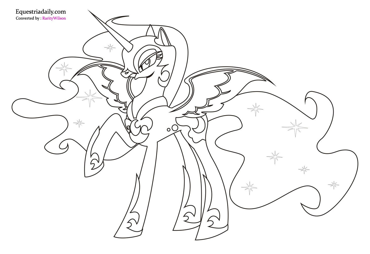 1500x1028 Princess Luna Coloring Pages With Page Coloring Pages