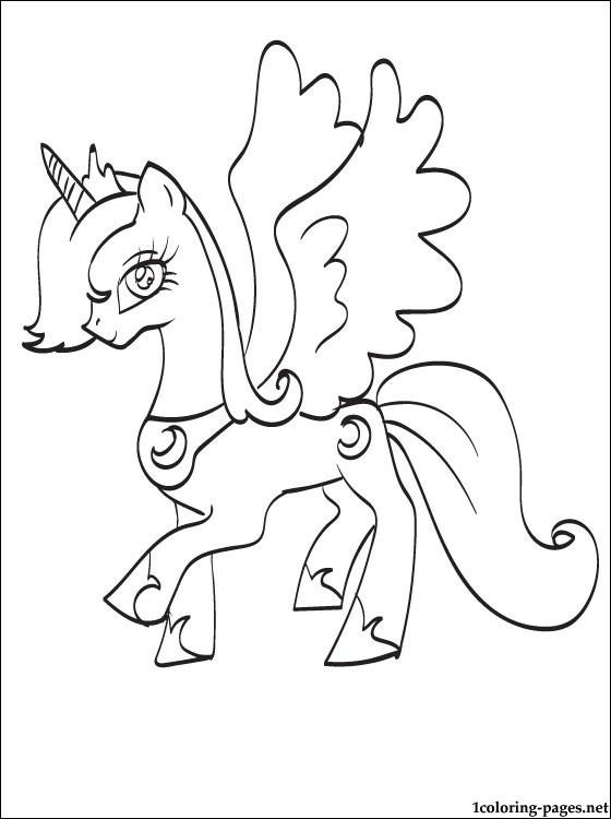 560x750 Princess Luna Coloring Page Coloring Pages