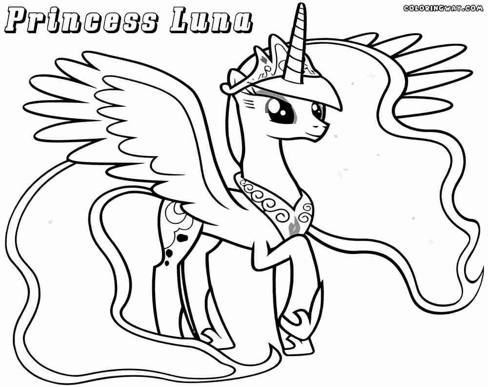 1000x794 Simplified Princess Luna Coloring Page Pages T