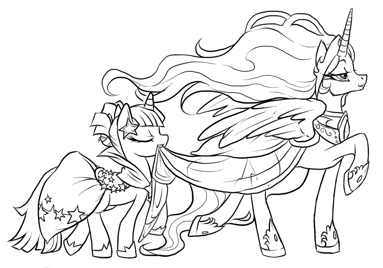 1280x896 My Little Pony Coloring Pages Princess Celestia And Luna Printable