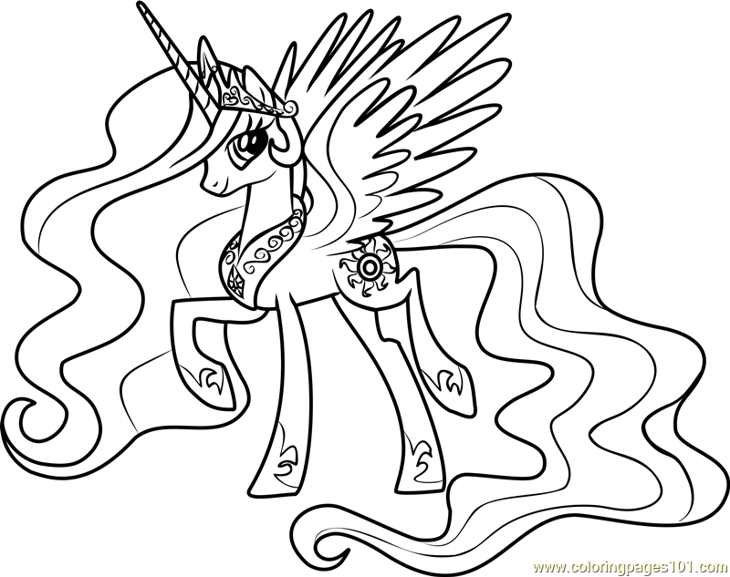 800x633 My Little Pony Coloring Pages Princess Celestia And Luna My Little