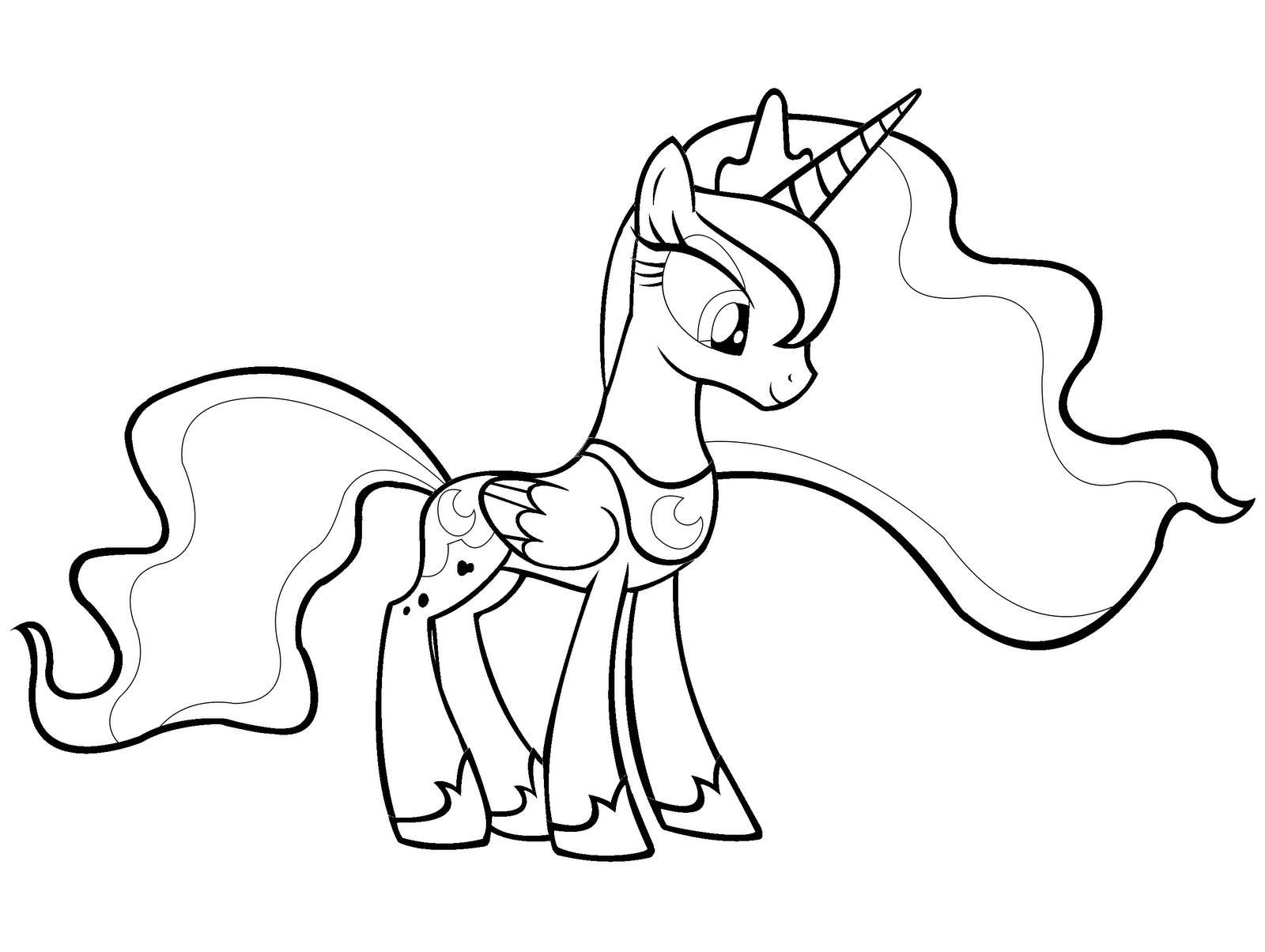 1600x1204 My Little Pony Coloring Pages Princess Celestia New Princess