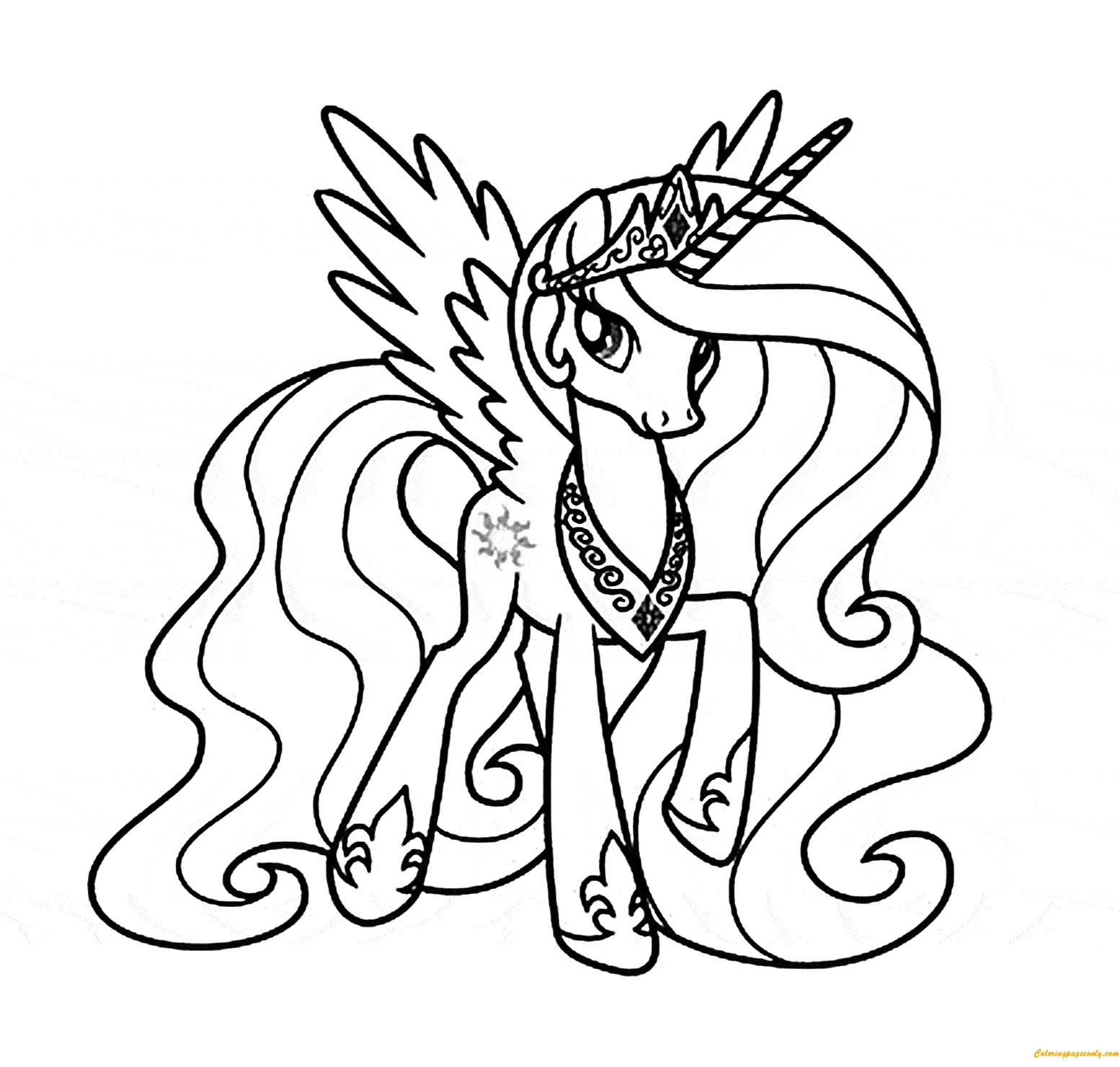 1554x1480 My Little Pony Coloring Pages Princess Luna And Celestia Best